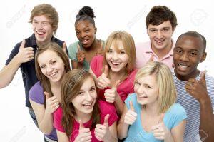 5516999-Group-Of-Teenage-Friends-In-Studio-Stock-Photo-teens-thumbs-group