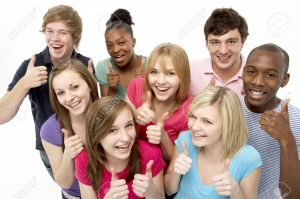 5516999-Group-Of-Teenage-Friends-In-Studio-Stock-Photo-teens-thumbs-group